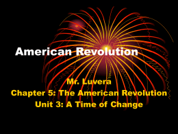 American Revolution PowerPoint Notes