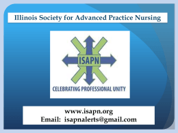 ISAPN speaks with a unified voice on behalf of APNs in Illinois