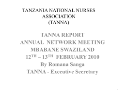 TANZANIA NATIONAL NURSES ASSOCIATION (TANNA)