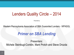 Quality Circle 2014 Primer - Western Pennsylvania Association Of