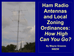 Ham Radio Antennas and Local Zoning Ordinances