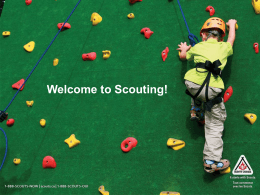 Welcome to Scouting (PowerPoint)