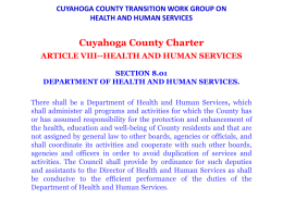 cuyahoga county transition work group on health and human services
