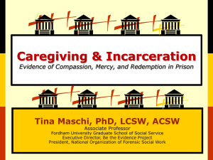 Family Caregiving and Incarceration
