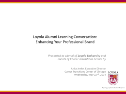 webinar - LUC Alumni Association