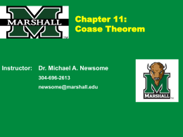 ECN405 Lecture Ch11 (Market Failure and Coase)