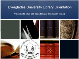 Library-Orientation-Tutorial