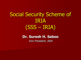 National Security Scheme for IRIA NSS-IRIA