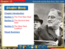 Roosevelt and the New Deal Power Point