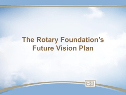 Future Vision Plan presentation