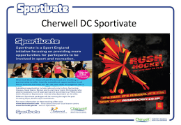 Cherwell Sportivate - Oxfordshire Sports Partnership