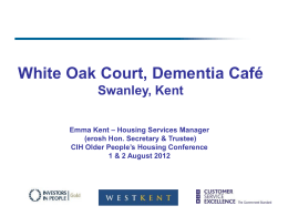 Emma`s presentation on the dementia café