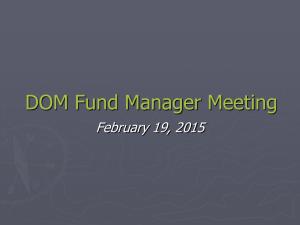 Fund Manager Mtg 2.19.15 - Office of Research Administration
