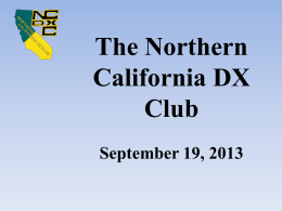 NCDXC-Meeting-19Sep2013 - Northern California DX Club