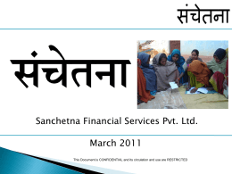 sanchetna_for_investors_livelihood-_apr_2011