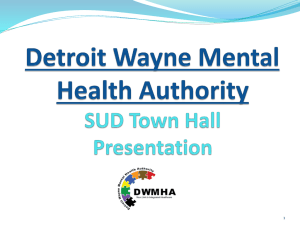 September 2014 SUD Town Hall Presentation