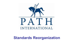 standards-reorg - PATH International