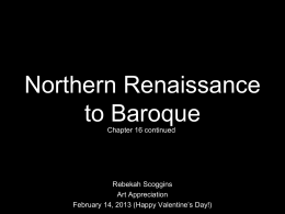 Northern Renaissance to Baroque Art Slideshow