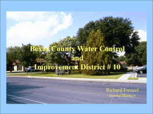 Water District - Bexar County Water Control and Improvement