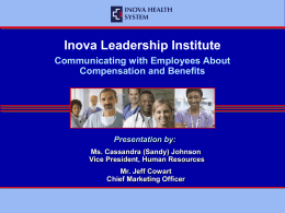 High-Level Overview of Inova Compensation & Benefit Programs