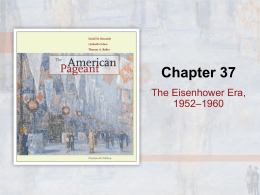 The Eisenhower Era, 1952–1960