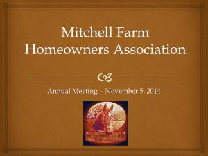 Mitchell Farm Annual Meeting 2014 Power Point