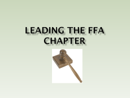 Describe the duties and responsibilities of FFA chapter officers.