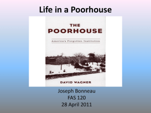 Life in a Poorhouse - University of Maine