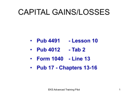 Capital Gains powerpoint - Earn It! Keep It! Save It!