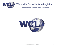 our company presentation - WCL