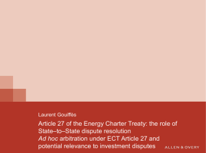 Article 27 of the Energy Charter Treaty
