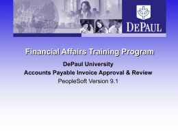 Accounts Payable - Financial Affairs