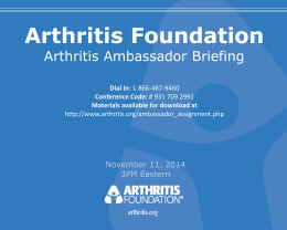 Anna Hyde - Arthritis Foundation
