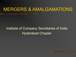 AMALGAMATION AND MERGERS