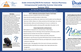 Drake University/DELTA Rx Institute – NuCara Pharmacy