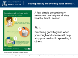 Staying healthy and avoiding colds and flu (1) - Safety