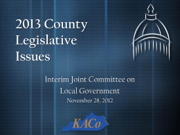 2012 County Legislative Issues - Kentucky Association of Counties