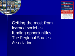 The Regional Studies Association