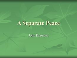separate peace essays gene