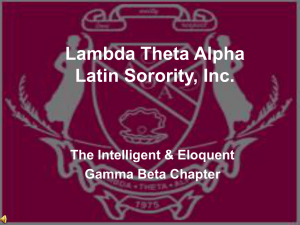 Lambda Theta Alpha Latin Sorority, Inc.