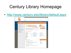 Library Catalog - Century College