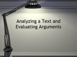 Examining Appeals and Evaluating Arguments