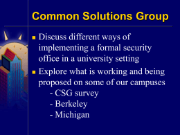 Security Office - Common Solutions Group