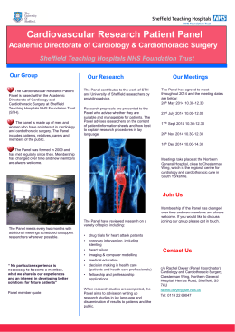 Cardiology and Cardiothoracic Surgery Flyer