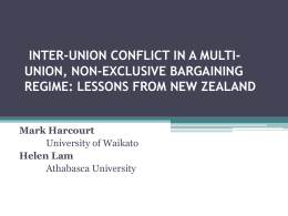 inter-union conflict in a multi-union, non