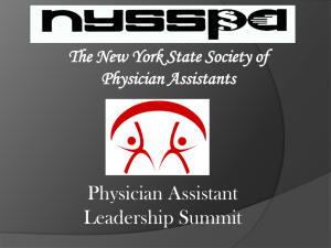 The New York State Society of Physician Assistants
