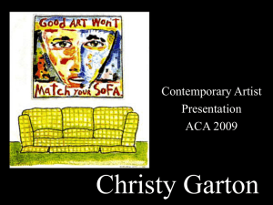 Contemporary Artist Presentation
