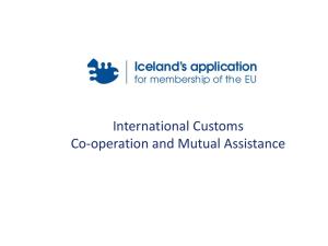 International Customs - Co-operation and Mutual