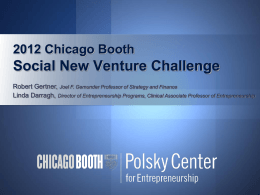 social venture - The University of Chicago Booth School of Business