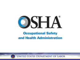 What is OSHA? - New York City Chapter